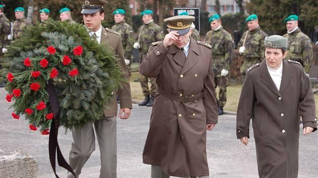 Pohřeb brigádního generála  Jana Paroulka v Přerově.