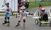 Dětské závody na kolečkových bruslích – Mini in-line Cup v Centru Semafor.
