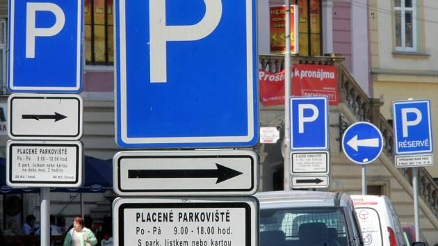 Parkování v Olomouci