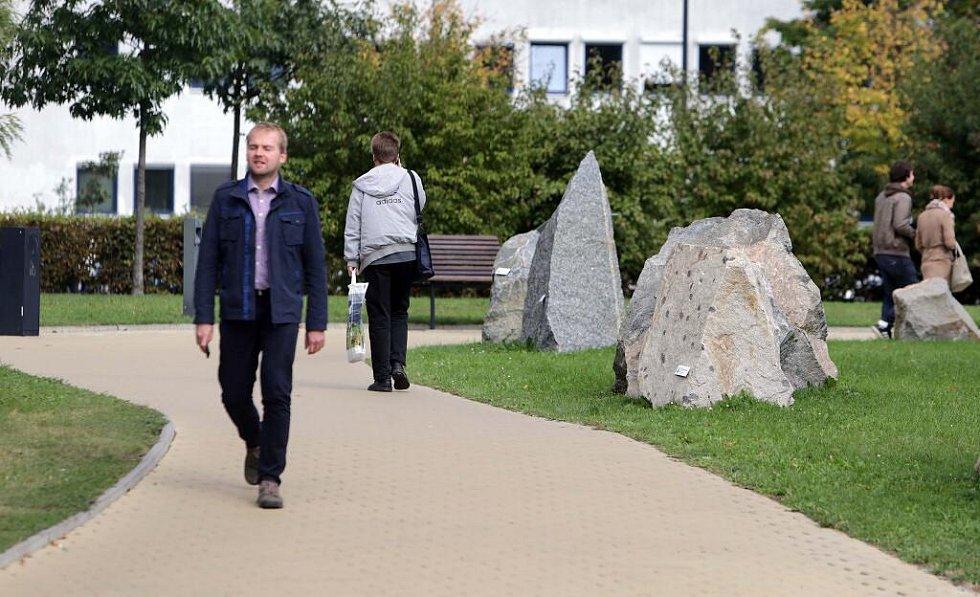 Geopark u přírodovědecké fakulty na Envelopě v Olomouci