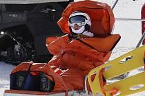 Vendula Hopjáková po pádu na olympijském snowboard-crossu v Pchjongčchangu
