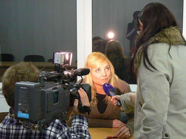 Studenti si ještě před startem televize vyzkoušeli casting.