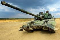 1. tanková rota Aktivní zálohy 73. tankového praporu na střelnici Velká Střelná ve vojenském prostoru Libavá