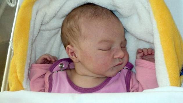 Vendula Klapková, Uničov, narozena 14. srpna míra 50 cm, váha 3350 g
