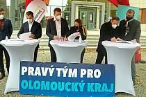 Podpis koaliční smlouvy nové vlády Olomouckého kraje - 26. 10. 2020