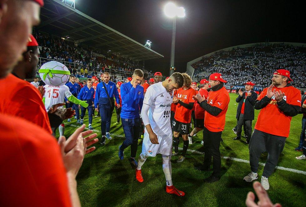 Finále fotbalového poháru MOL Cupu, Baník Ostrava - Slavia Praha 22.května 2019 v Olomouci.  Patrizio Stronati z Baníku Ostrava.