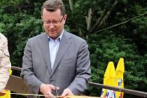 Olomoucký primátor Antonín Staněk při otevírání opravené rozhledny v zoo na Svatém Kopečku