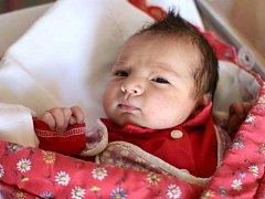 Anežka Soldánová, Olomouc, narozena 4. července ve Šternberku, míra 48 cm, váha 3170 g