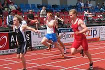 Lehnert obsadil v běhu na 100 metrů druhé místo.