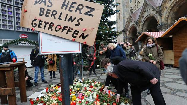 Pieta po útoku na vánočním trhu v Berlíně