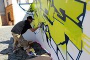 DED v Olomouci - streetart na Horním náměstí