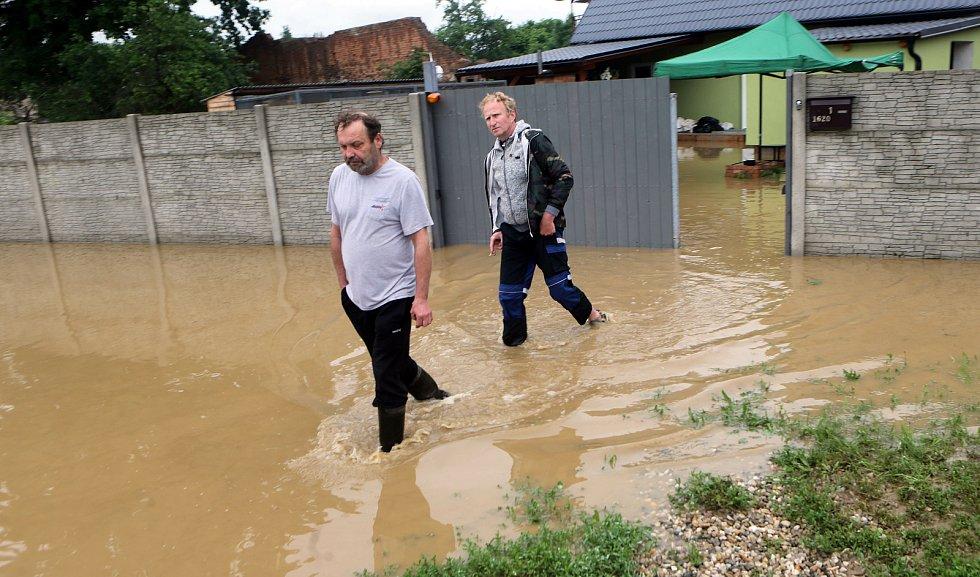 Dolní Sukolom, 8. června 2020 ráno. Následky bleskové povodně