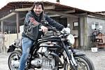 Otakar Hlaváč, prezident motorkářského klubu Berani v Grygově
