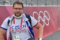 Masér Michal Frantík na OH v Tokiu.