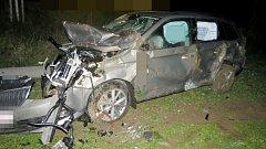 Nehoda opilého řidiče u Šternberka