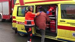 Při požár v kotelně rodinného domu ve Štěpánově se jeden člověk nadýchla zplodin a skončil v nemocnici