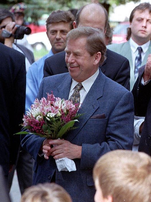 Václav Havel 29. září 1999 při návštěvě na střední Moravě.