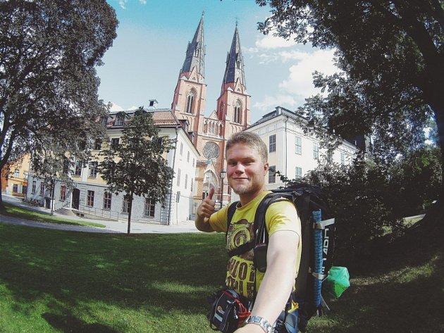 Lukáš Koutný se vydal stopem po severských zemích. Zatím viděl například švédský malebný přístav Umeå nebo navštívil historické finské město Uppsala.
