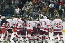 Radost olomouckých hokejistů.