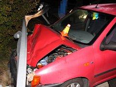 Nehoda opilého šoféra mezi Olomoucí a Těšeticemi
