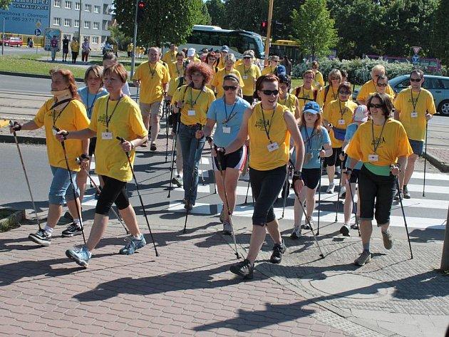 Nordic walking v Olomouci. Ilustrační foto