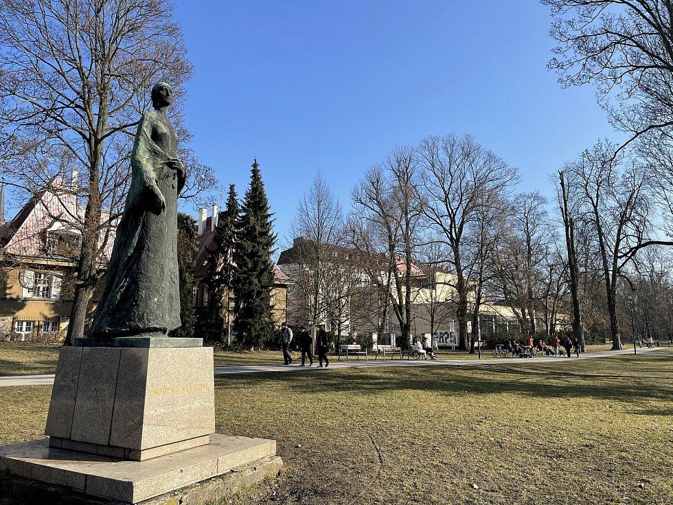 Olomouc, Čechovy sady, 3. března 2021