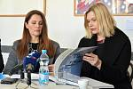 Tisková konference k výstavě obrazů Václava Ciglera v Muzeu umění Olomouc