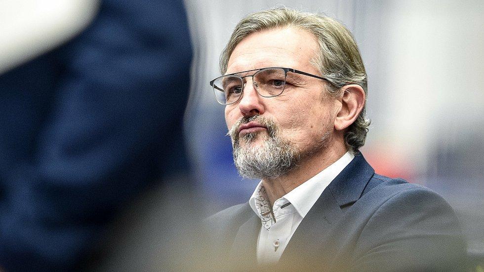 Trenér HC Olomouce Zdeněk Moták.