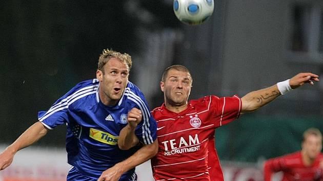 Snímek z utkání Sigmy s Aberdeenem