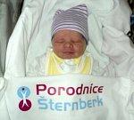 Lukáš Hublar, Uničov, narozen 6. února ve Šternberku, míra 48 cm, váha 2980 g