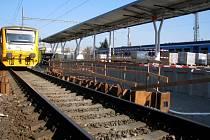 Výstavba nového pátého nástupiště na olomouckém hlavním nádraží