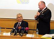 Prezident Zeman na krajském úřadu v Olomouci - listopad 2017