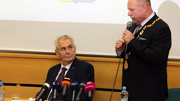 Prezident Zeman v Olomouci - listopad 2017