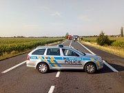 Uzavřená silnice od Kožusan po ranní nehodě.