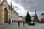 Vánoční strom pro Olomouc - příjezd a instalace na Horním náměstí - 22. listopadu 2020