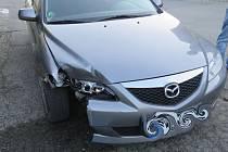 Nehoda pod vlivem alkoholu v neděli 28. května v Pavlovické ulici v Olomouci