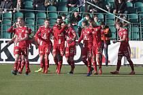 Zápas fotbalové Fortuna ligy Bohemians Praha 1905 - SK Sigma Olomouc v Ďolíčku.