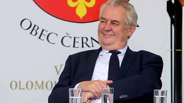 Prezident Zeman v Černotíně na Hranicku