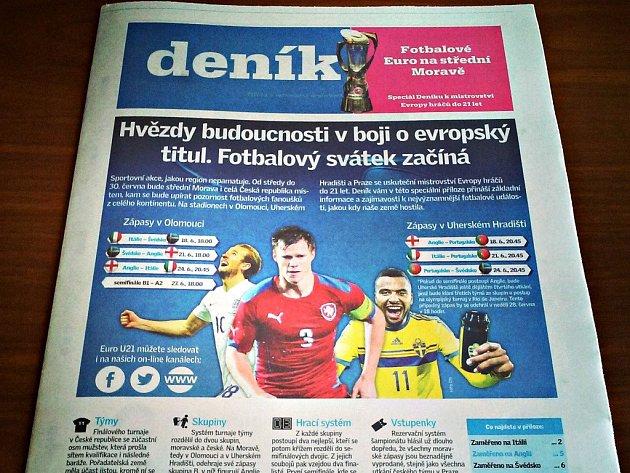 Pondělní příloha Deníku - Fotbalové Euro na Střední a východní Moravě