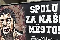 Prostějovské zdi zdobí originální graffiti z dílny hokejových ultras.