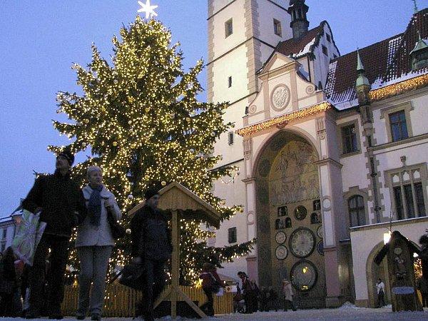 Vánoční trhy vcentru Olomouce