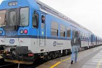 Vlak na trati Olomouc - Krnov - Opava