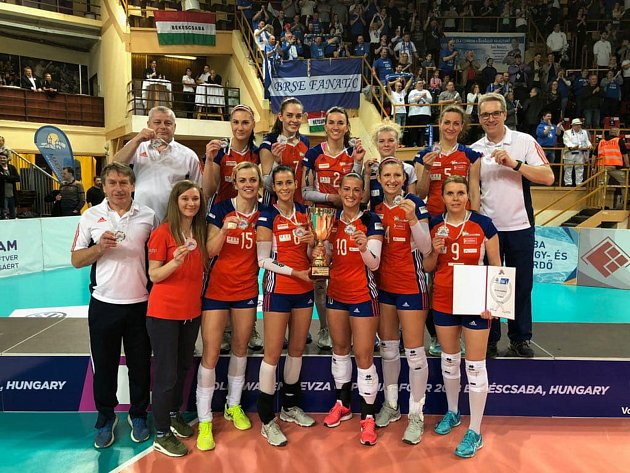 Olomoucké volejbalistky získaly na turnaji Final 4 Středoevropské ligy stříbro.