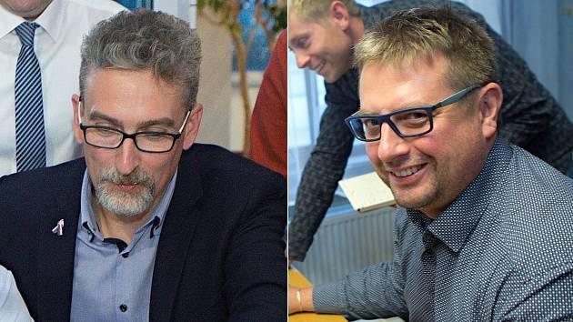 Lídr ANO Miroslav Žbánek (vlevo) a lídr ODS Martin Major