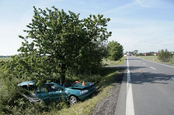 Následky nehody uKožušan