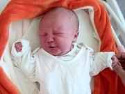 Natálie Hájková, Chudobín, narozena 6. června ve Šternberku, míra 50 cm, váha 3580 g