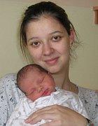 Filip Skácel, Pěnčín, narozen 23. listopadu v Olomouci, míra 53 cm, váha 3200 g