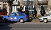 Policie hlídá u Androva stadionu