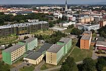 Výhled z výškové budovy BEA v Olomouci