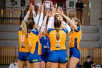 Utkání 9. kola volejbalové extraligy žen: TJ Sokol Frýdek-Místek - VK UP Olomouc, 30. ledna 2021 ve Frýdku-Místku.